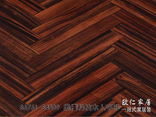黑檀科技木人字形 欧人地板